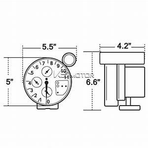 5 U0026quot  Rpm Tachometer Carbon Fiber 7 Color Led Gauge W   Shift