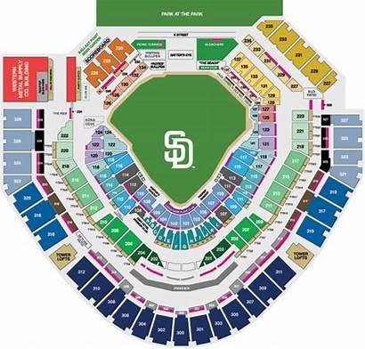 Seating Padres Petco Park Map Diego San