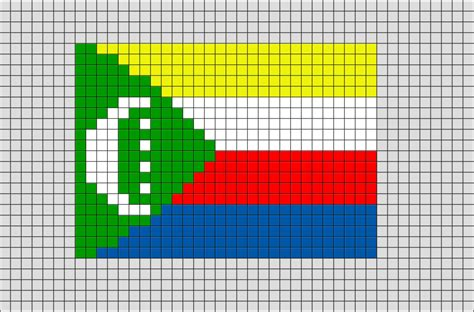 flag of comoros pixel brik pixel designs pixel