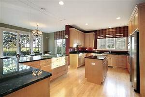 kitchens with light and honey wood floors 2291