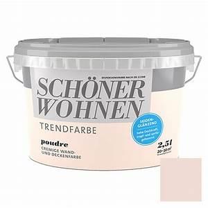 Schöner Wohnen Poudre : sch ner wohnen wand deckenfarbe poudre 2 5 l seidengl nzend 5888 null hadc null ~ Markanthonyermac.com Haus und Dekorationen