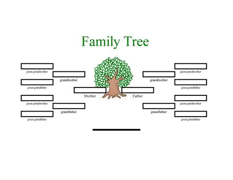 family tree template word template business
