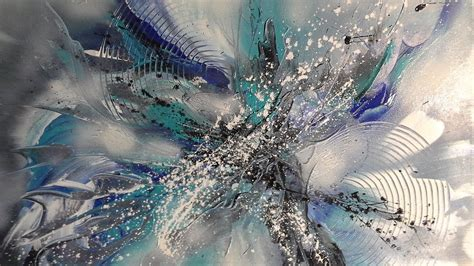 blaue dimension einfach malen easy painting abstract