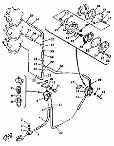 1993 Yamaha Fuel System Parts For 85 Hp C85tlrr Outboard Motor