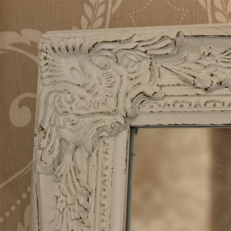 shabby chic large wall mirrors large ornate white wall mirror shabby french chic bedroom hallway living room ebay