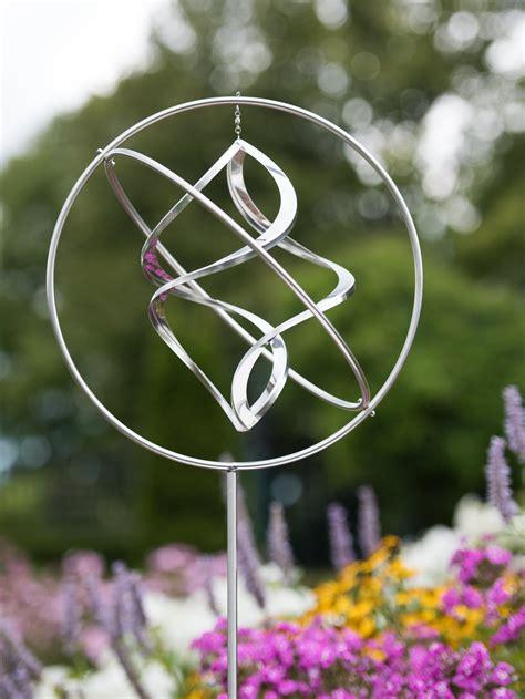 gyroscope wind spinner kinetic art gardeners supply