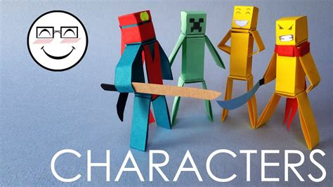 How To Make Paper Characters Minecraft Characters