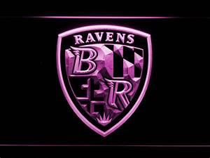 Baltimore Ravens Shield Logo LED Neon Sign | SafeSpecial