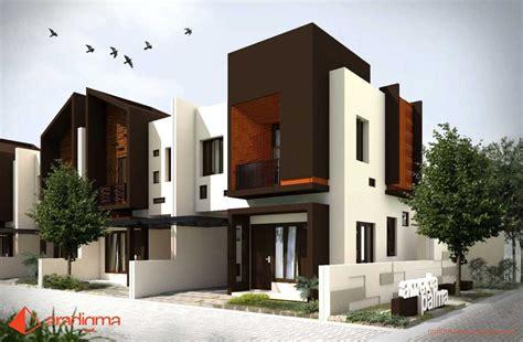 desain tampak depan rumah minimalis  lantai  modern