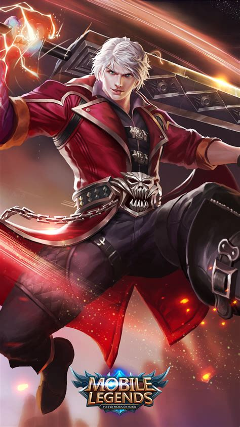 mobile legend alucard 43 new awesome mobile legends wallpapers 2019 mobile legends