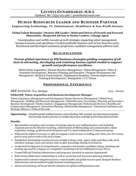 human resources business partner resume resume writer
