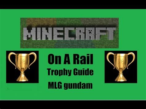on a rail trophy guide minecraft ps3 edition youtube