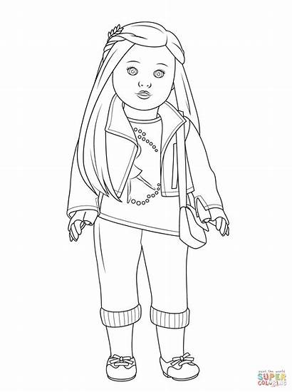 Coloring Pages Doll Cat Animal