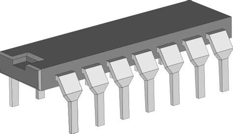 Integrated Circuit Chip Clip Art (116254) Free Svg
