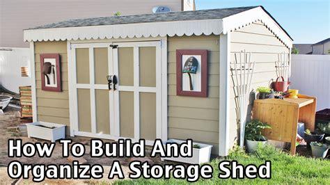 build  organize  storage shed   youtube