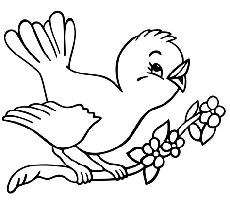 christmas tree  birds coloring page beauty bird