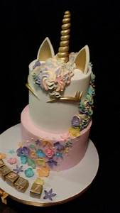 Unicorn Baby Shower Cake - CakeCentral com