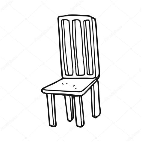 dessin de chaise black and white chair stock vector
