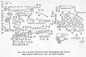American Flyer Locomotive 325  325ac  U0026 K325 Parts List