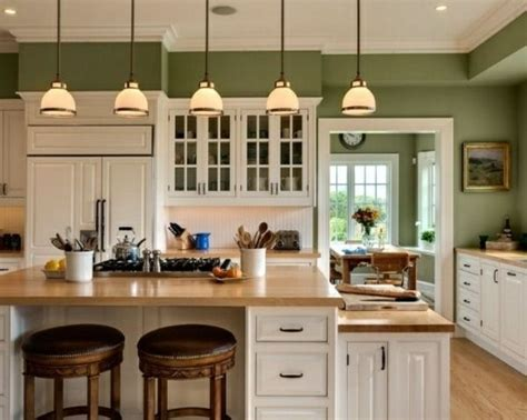 kitchen wall colors with oak cabinets 15 green kitchen cabinets design photos ideas 9622