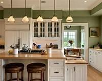 inspiring kitchen accent wall 15+ Green Kitchen Cabinets Design, Photos, Ideas ...