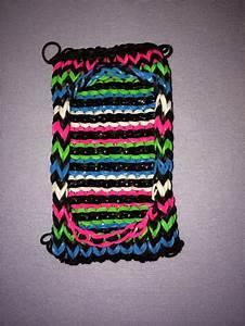 Rainbow loom cell phone case I made   Loom band   Pinterest