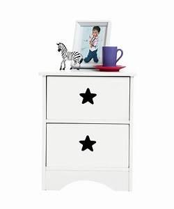 Table De Chevet Blanche Ikea : table de chevet enfant blanche etoile miliboo ~ Nature-et-papiers.com Idées de Décoration