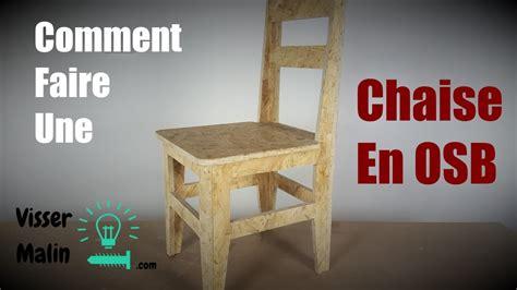 comment capitonner une chaise comment faire une chaise en osb