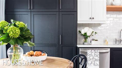 small kitchen makeover black white  tone cabinets