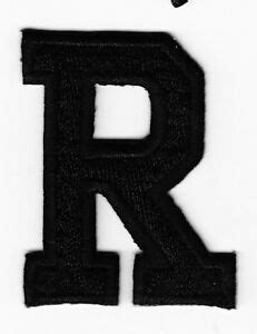 letters black block letter    iron  embroidered applique patch ebay