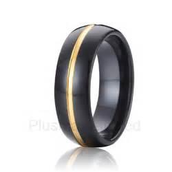 black womens wedding ring aliexpress buy black tungsten ring wedding band and jewelry 8mm beautiful gold