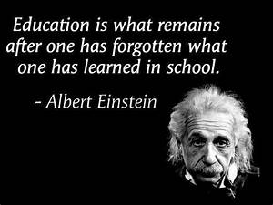 Education is what remains