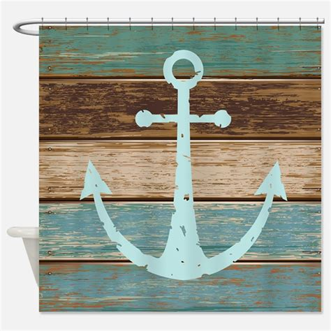 Nautical Shower Curtains  Nautical Fabric Shower Curtain