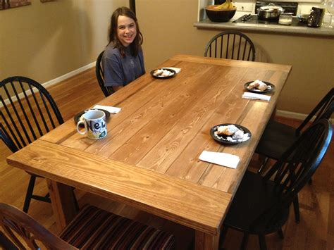 plans  making  rustic farmhouse table  lesson