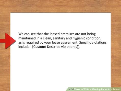 ways  write  warning letter   tenant wikihow