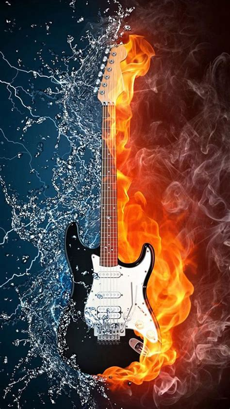Choose and determine which version of fire and water chords and guitar tabs by free you can play. Water and fire guitar iPhone 6 Wallpapers | Chitarre ...