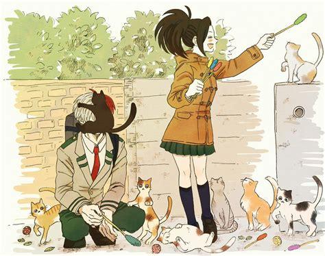 todoroki shouto yaoyorozu momo anime japonia