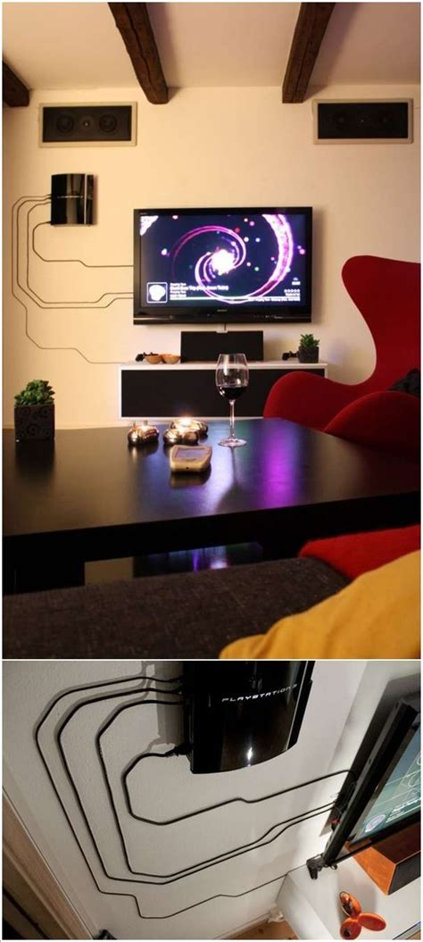 creative electrical cord wall decoration ideas