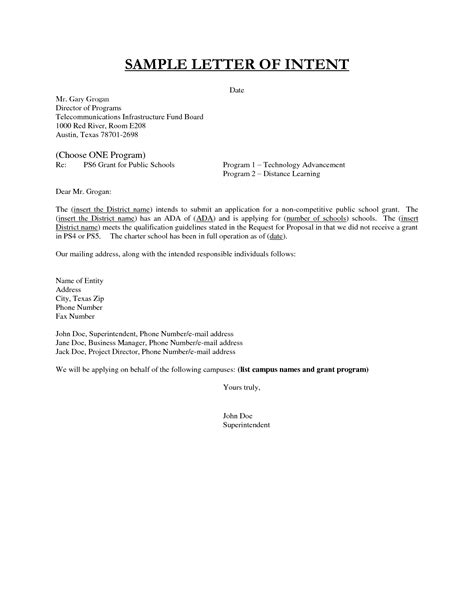 sample letter intent employment template