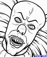 Coloring Scary Clown Pages Printable Adults Popular sketch template