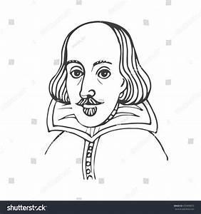 Vector Handdrawn Illustration William Shakespeare Portrait ...