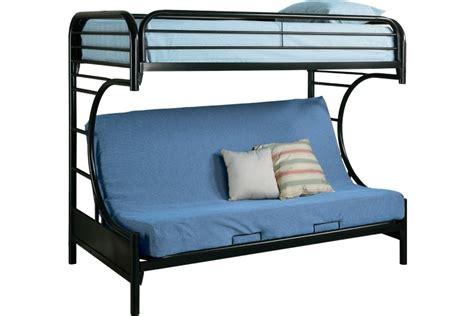 futon bunk bed black metal futon bunkbed boomerang futon bunk