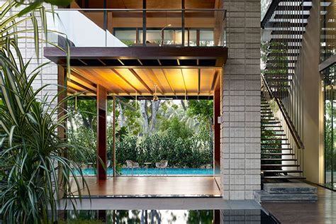 zen courtyard contemporary home  singapore inspired
