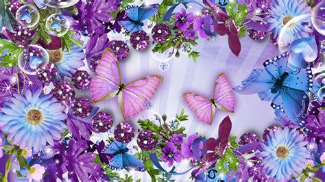 butterflies  flowers wallpaper gallery