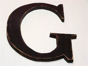 wooden letter g alphabet letters shabby chic by oldwoodtrader With wooden letter g