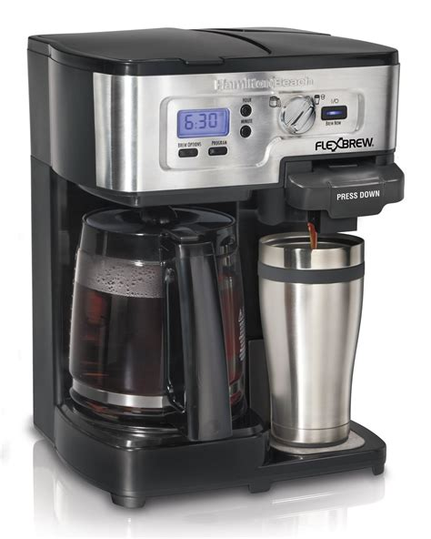 hamilton single serve coffee brewer and pot coffee maker flexbrew ebay