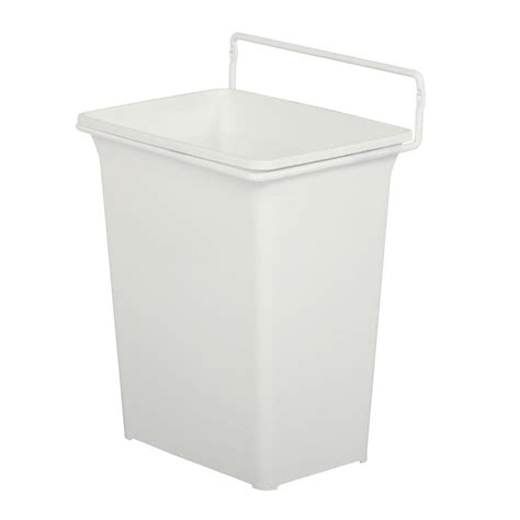 cabinet trash can home depot knape vogt 13 in h x 10 in w x 7 in d plastic in