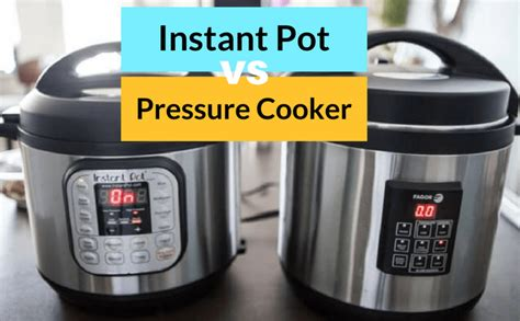 pot instant cooker pressure vs between difference differences tips understand