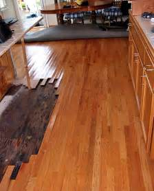 water damage to wood floors