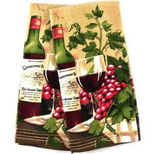 amazon com wine themed kitchen towel velour kitchen towel set of 2 home kitchen for the